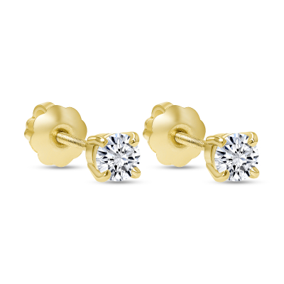 small gold diamond stud earrings