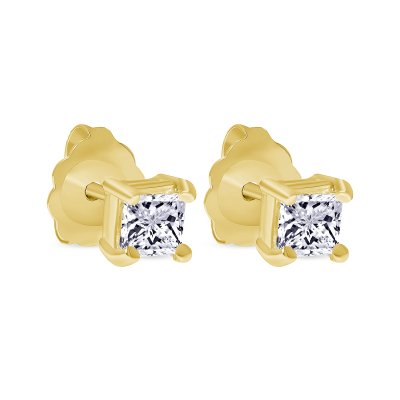 small princess cut diamond earrings | Diamond Collection