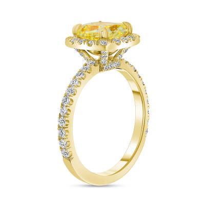 two tone cushion cut engagement rings | two tone diamond engagement ring