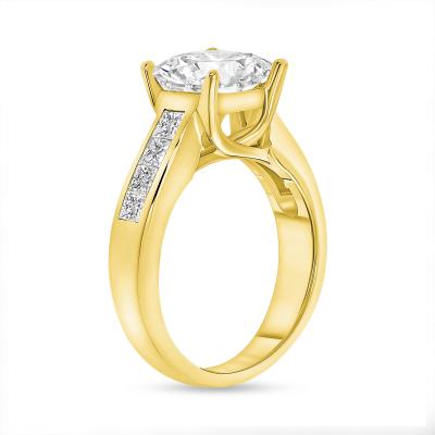 2ct princess cut diamond engagement ring gold