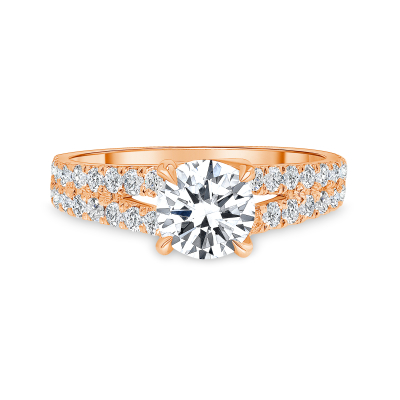 2 row diamond ring | two row diamond ring