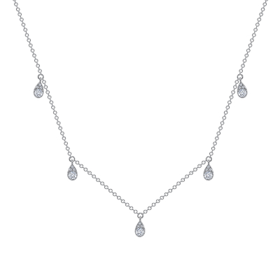 Diamond station necklace in rose gold | Diamond Collection Inc