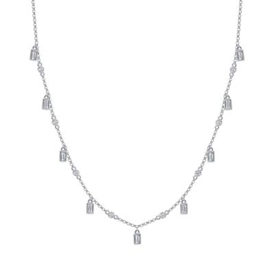 dangling diamond necklace white gold