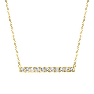 horizontal gold bar necklace