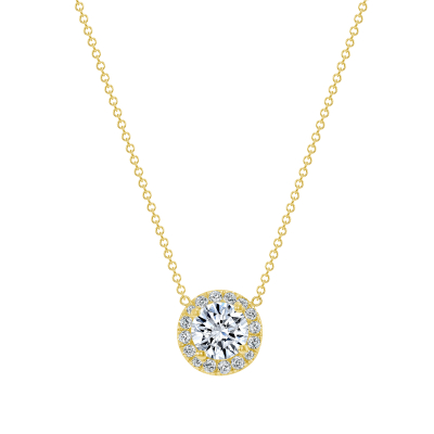 halo jewelry | gold round pendant necklace