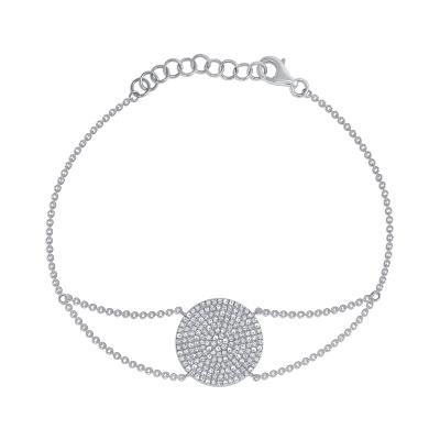 Diamond circle bracelet white gold