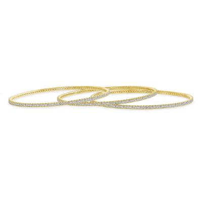 thin diamond bangles | thin gold bangle with diamonds