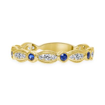 diamond and sapphire wedding ring gold