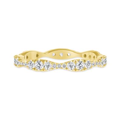 sound wave ring wedding diamond gold