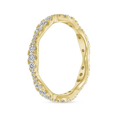 sound wave ring wedding diamond
