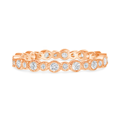 women's white gold stackable wedding ring | women rose gold stackable wedding ring | women's gold stackable wedding ring