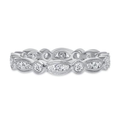 antique diamond wedding ring white gold