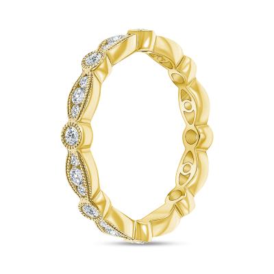 vintage diamond band ring gold