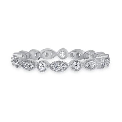 giant diamond stacking wedding ring white gold