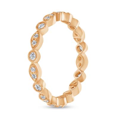 giant diamond stacking wedding ring rose gold