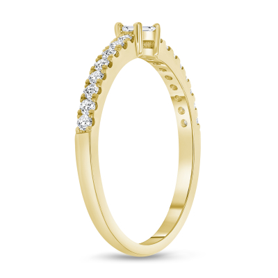 baguette diamond ring yellow gold |  baguette diamond ring band