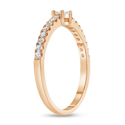 white gold baguette diamond ring | round and baguette diamond ring