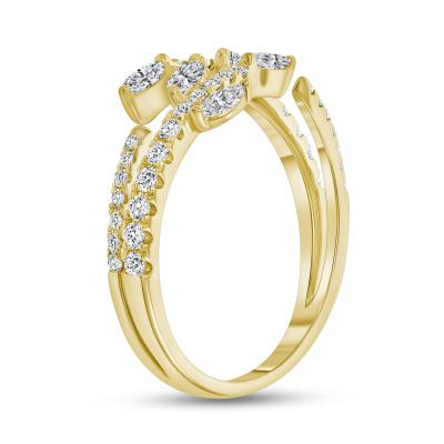 marquise diamond wedding ring in 14k white gold | marquise diamond wedding ring