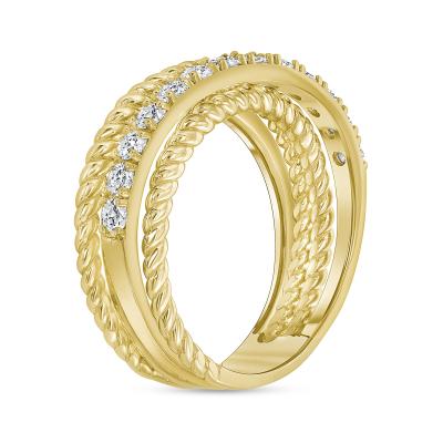 gold layered diamond wedding ring