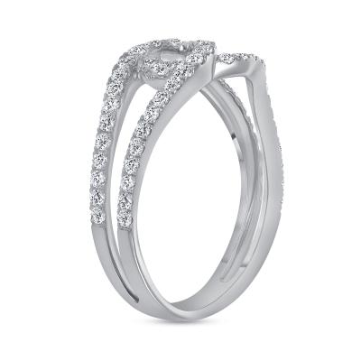 2 row diamond ring | double row diamond band ring
