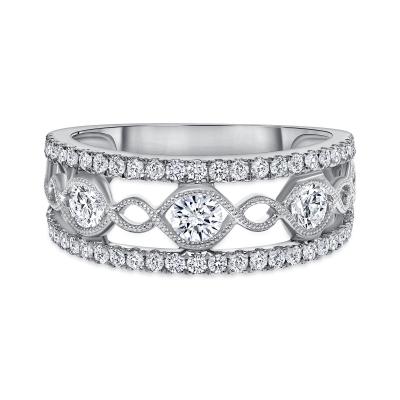trendy diamond rings   trendy diamond ring design for female