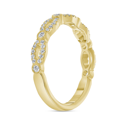 diamond twist wedding ring gold