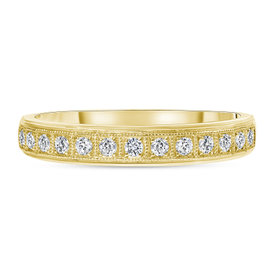 milgrain diamond wedding ring