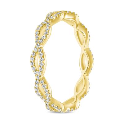 gold swirl diamond wedding ring
