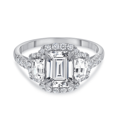 emerald diamond engagement ring | emerald platinum engagement ring
