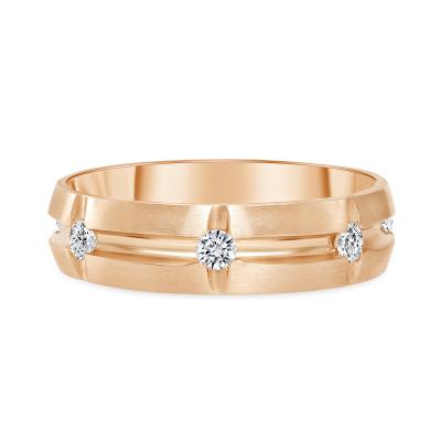 mens diamond band rose gold