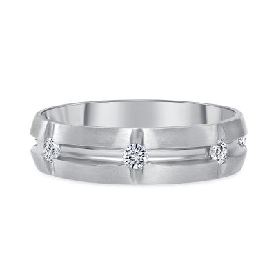 mens diamond band white gold