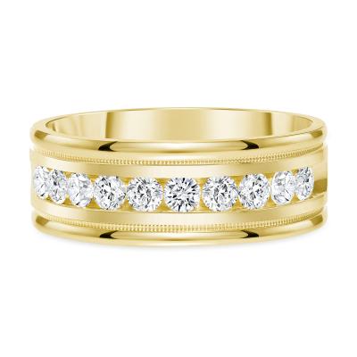Channel diamond band gold | Diamond Collection Inc
