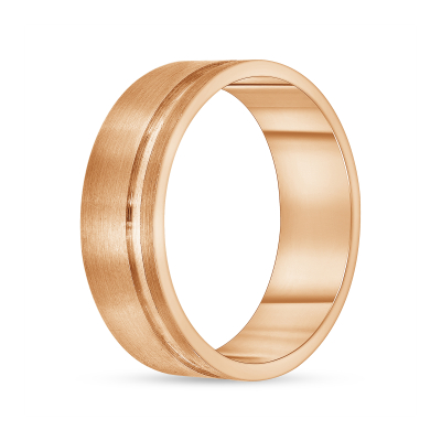 grooved wedding band | men's grooved wedding band