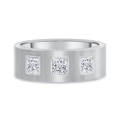 princess diamond band white gold