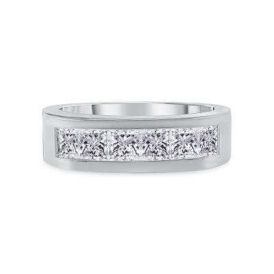 multi diamond unique band white gold