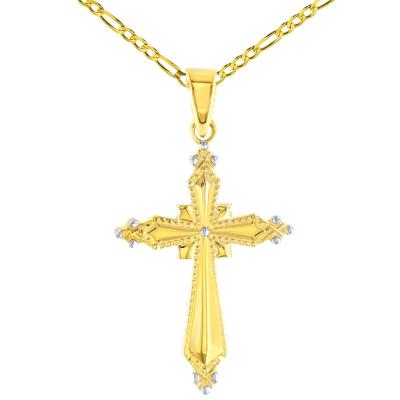 Milgrain Religious Cross Charm Pendant