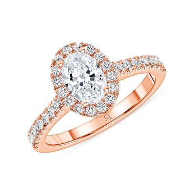 dainty diamond engagement ring rose gold