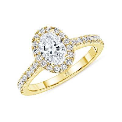 dainty diamond engagement ring yellow gold