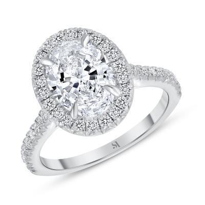 oval halo diamond engagement ring white gold