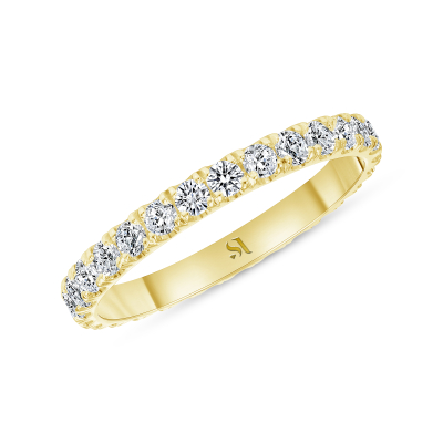petite eternity band yellow gold