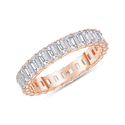 petite diamond band rose gold