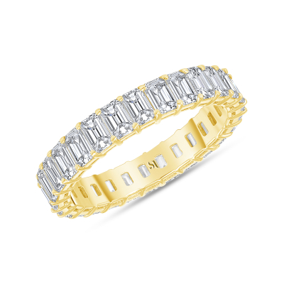 petite diamond band yellow gold