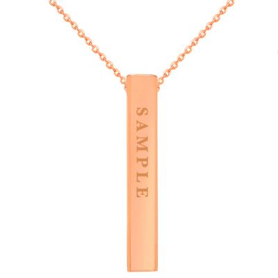 rose gold vertical bar necklace
