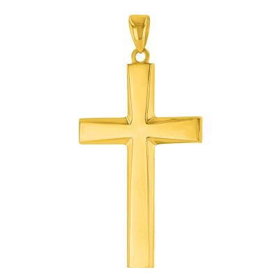 simple gold cross pendant