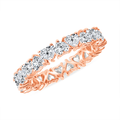 Heart you for eternity band rose gold