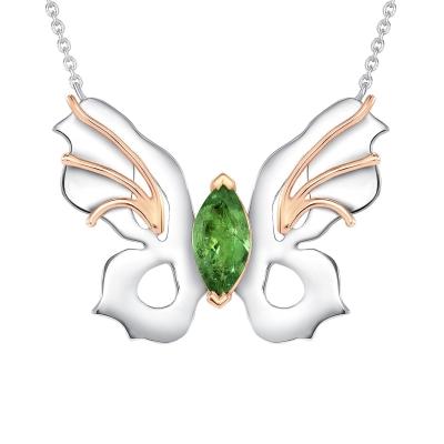 Tsavorite Butterfly Necklace
