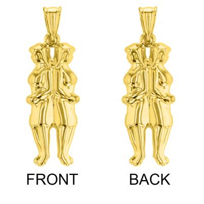 Gold Gemini Twins Zodiac Sign