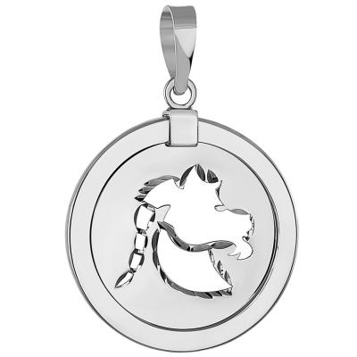 Capricorn Zodiac Sign Sea-Goat Animal Medallion Pendant