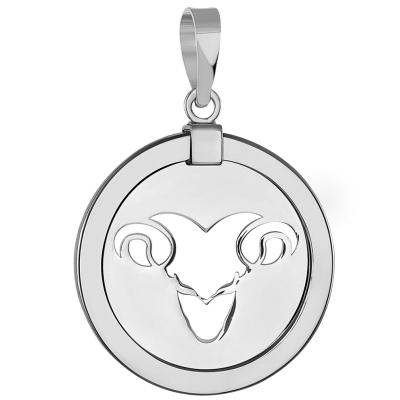 Ram Zodiac Sign Animal Medallion Pendant