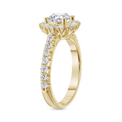 1 carat pave diamond ring
